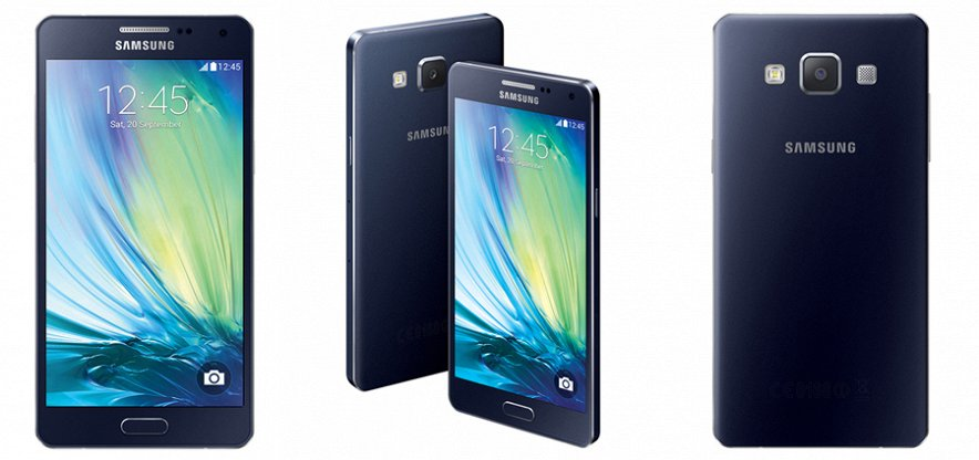Samsung Galaxy A5 A500 black-ракурсы