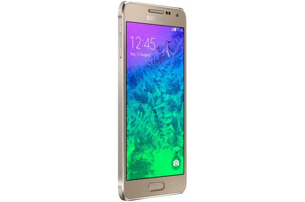 Samsung Galaxy Alpha G850F Frosted Gold-угол обзора