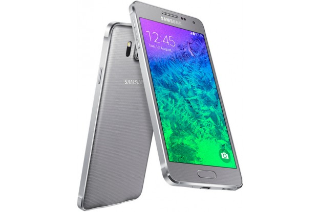 Samsung Galaxy Alpha G850F Sleek Silver-два ракурса