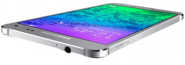 Samsung Galaxy Alpha G850F Sleek Silver-верхний торец