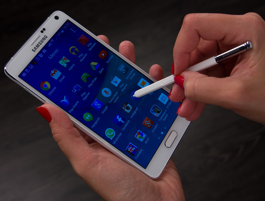 Samsung Galaxy Note 4- Изображение стилуса