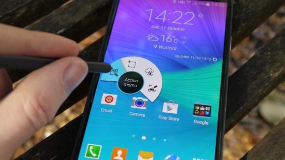 Samsung Galaxy Note 4- Поддержка стилуса