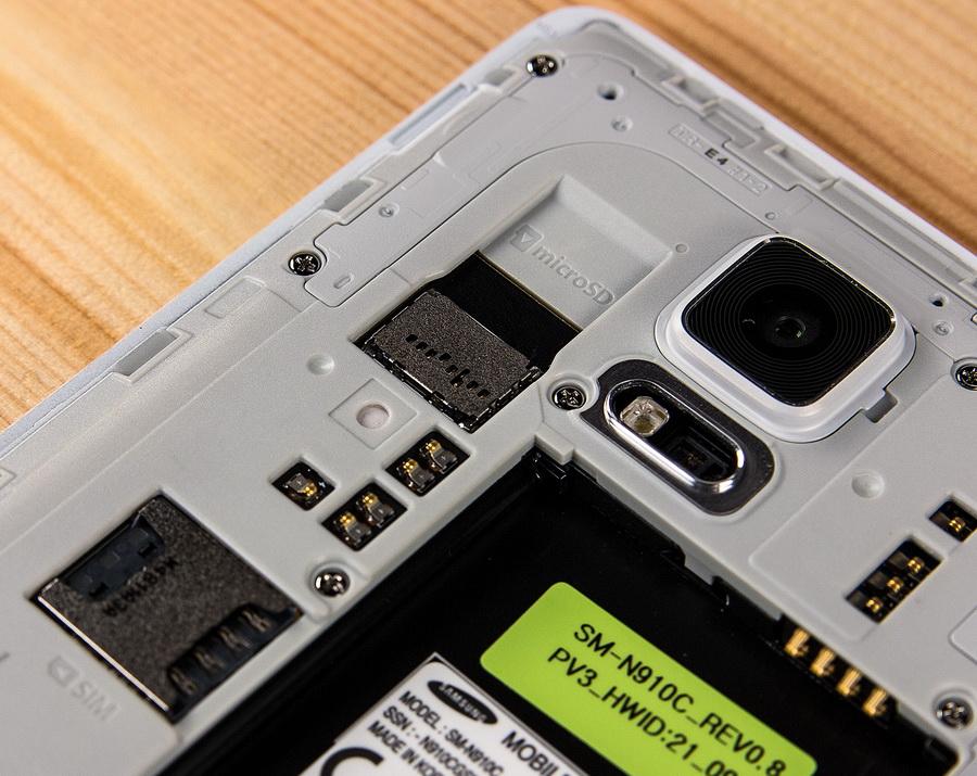 Samsung Galaxy Note 4-Слоты