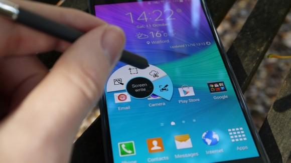 Samsung Galaxy Note 4-управление с помощью стилуса
