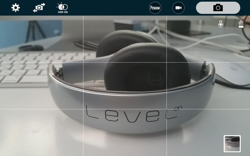 Samsung Galaxy Note Edge - интерфейс камеры