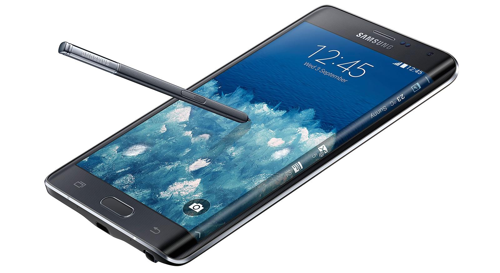 Samsung Galaxy Note Edge - правая сторона