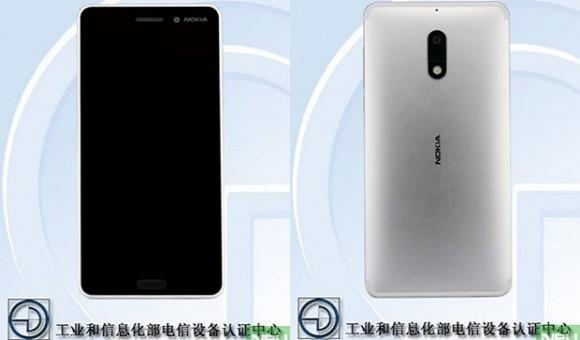 Смартфон Nokia 6 в серебристом цвете прошел сертификацию на TENAA
