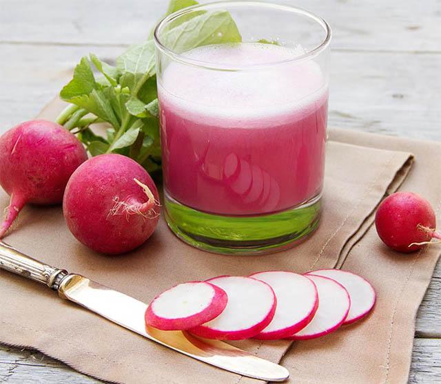Сок из редиски - напиток расщепляющий жиры