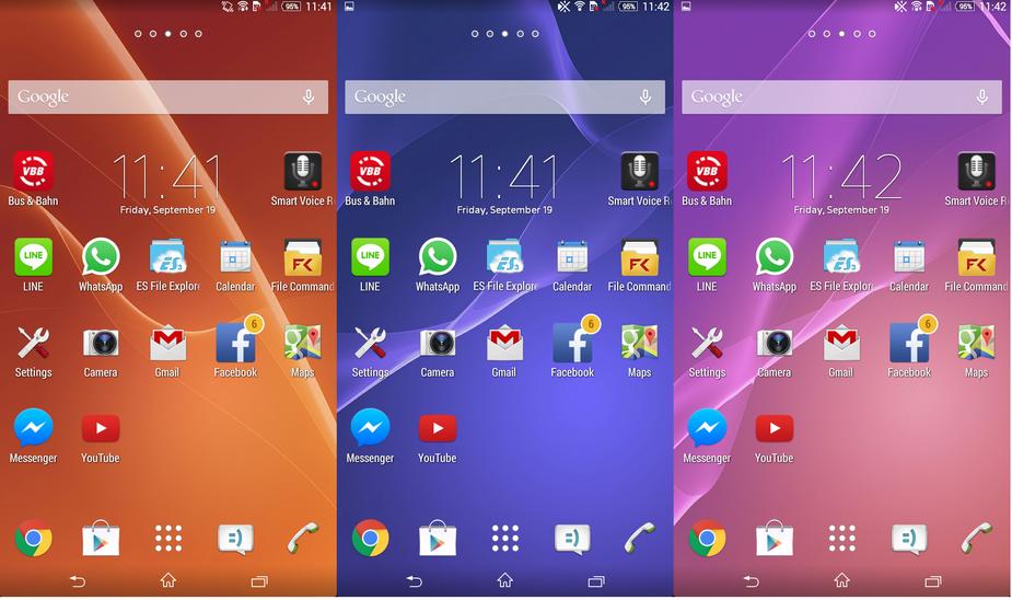 Sony Xperia C3- Интерфейс