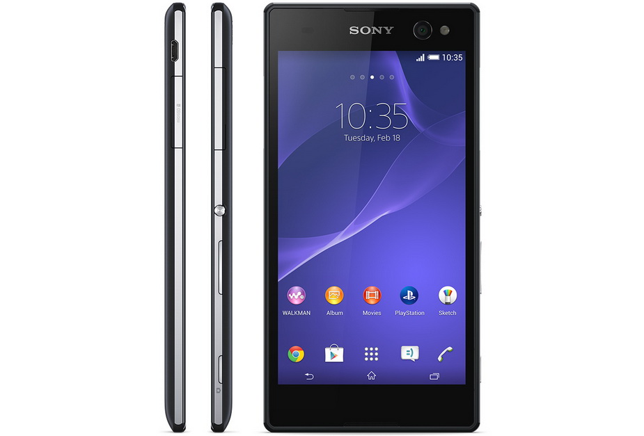 Sony Xperia C3 black-Экран и Боковые грани