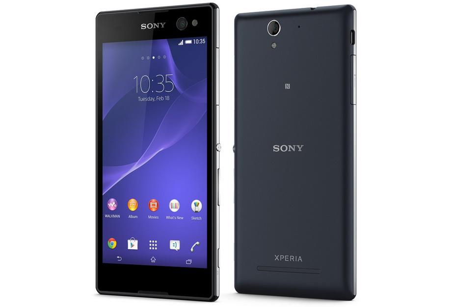 Sony Xperia C3 black-два ракурса