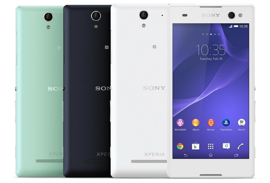 Sony Xperia C3 white- Экран и Задняя панель расцветки
