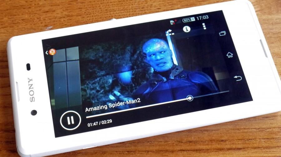 Sony Xperia E3- Воспроизведение видео