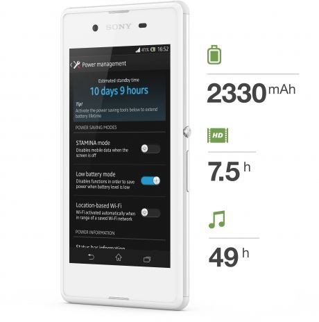 Sony Xperia E3-battery life