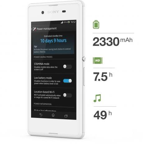 Sony Xperia E3-battery life