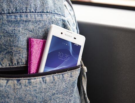 Sony Xperia E3- в кармане