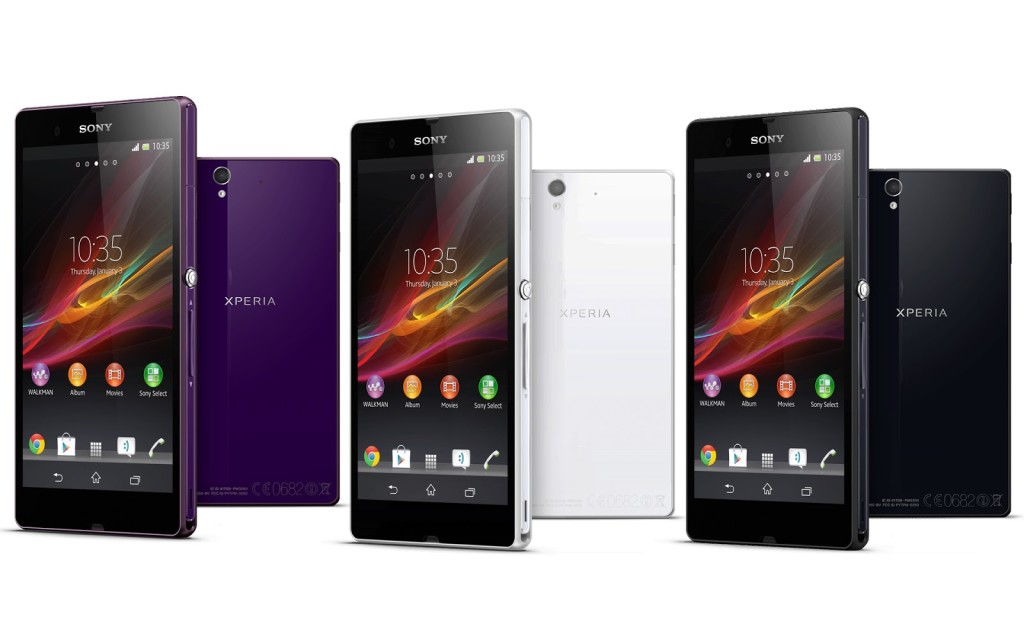 Sony Xperia Z2 - цвета