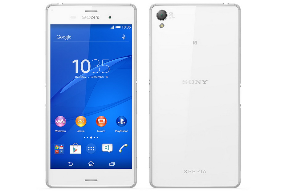 Sony Xperia Z3- ракурса