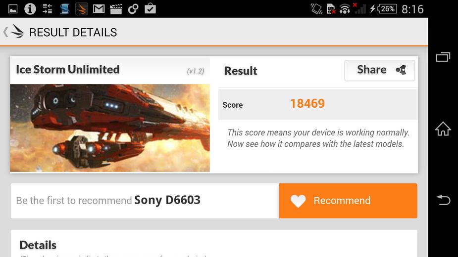 Sony Xperia Z3- енчмарк-тест 3DMark
