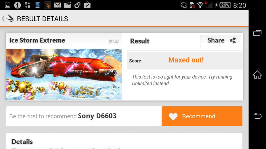 Sony Xperia Z3- бенчмарк-тест 3DMark