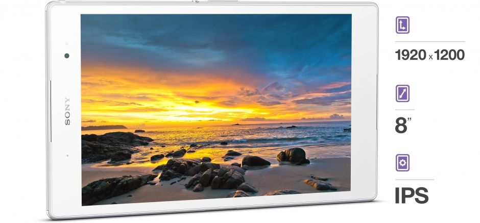 Sony Xperia Z3 Tablet-экран параметры