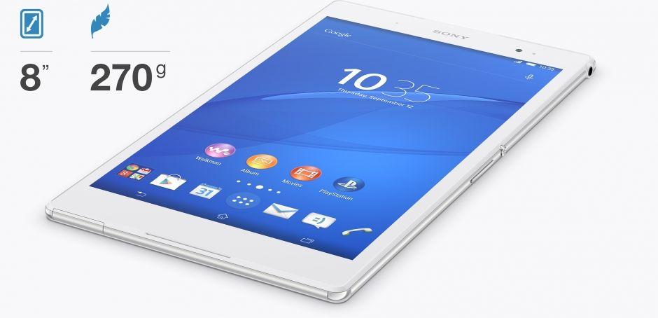 Sony Xperia Z3 Tablet-размеры и вес
