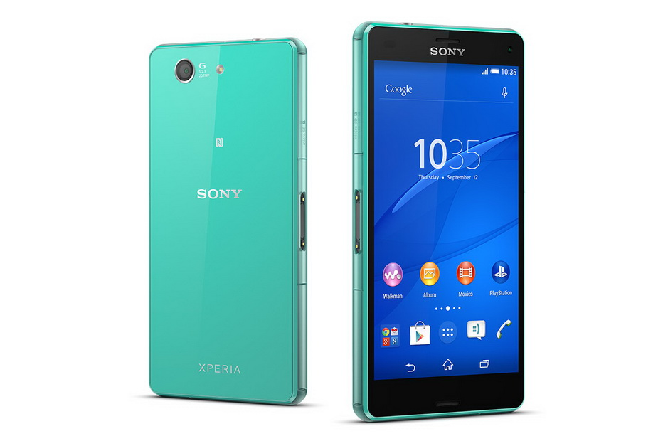 Sony Xperia Z3 compact D5803 green-два ракурса