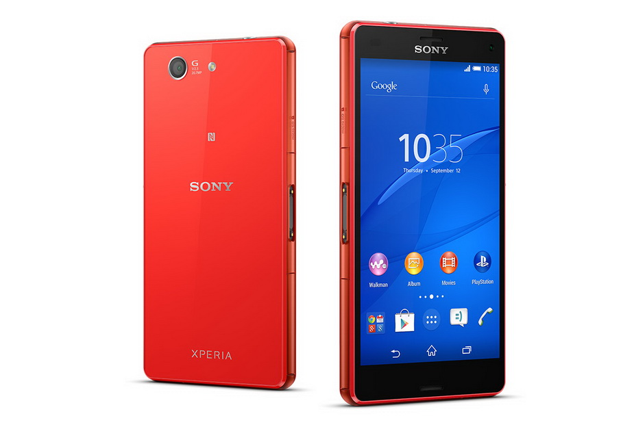 Sony Xperia Z3 compact D5803 orange-два ракурса