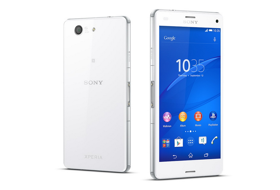 Sony Xperia Z3 compact D5803 white-два ракурса