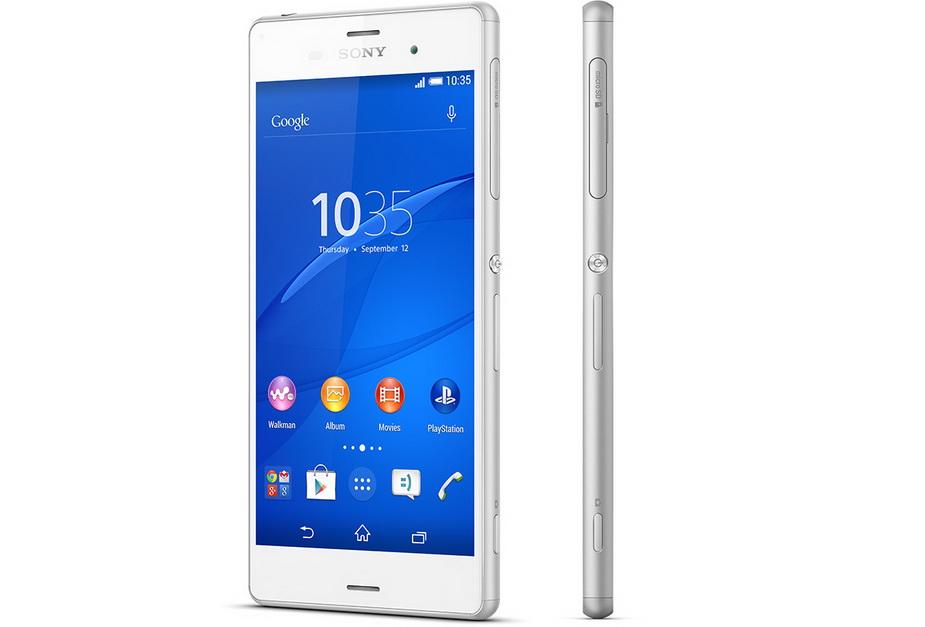 Sony Xperia Z3 white-два ракурса