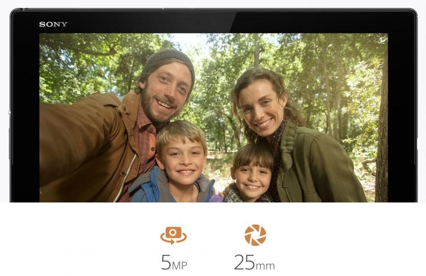 Sony Xperia Z4 Tablet- Широкоугольная фронтальная камера