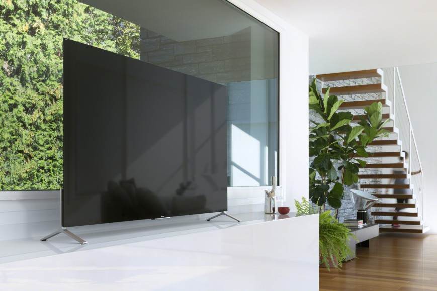 Sony-тонкие 4К-телевизоры в интерьере