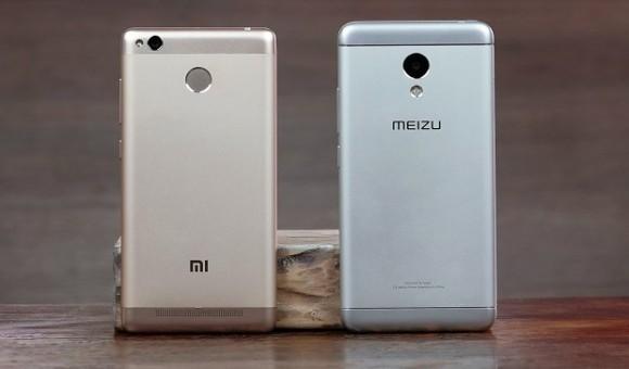 Сравнение смартфонов Xiaomi Redmi 3S и Meizu M3S