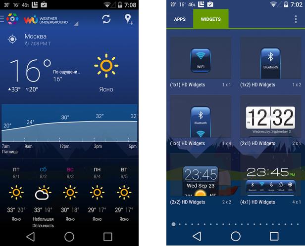 ТОП-20 приложений для Android - HD Виджеты