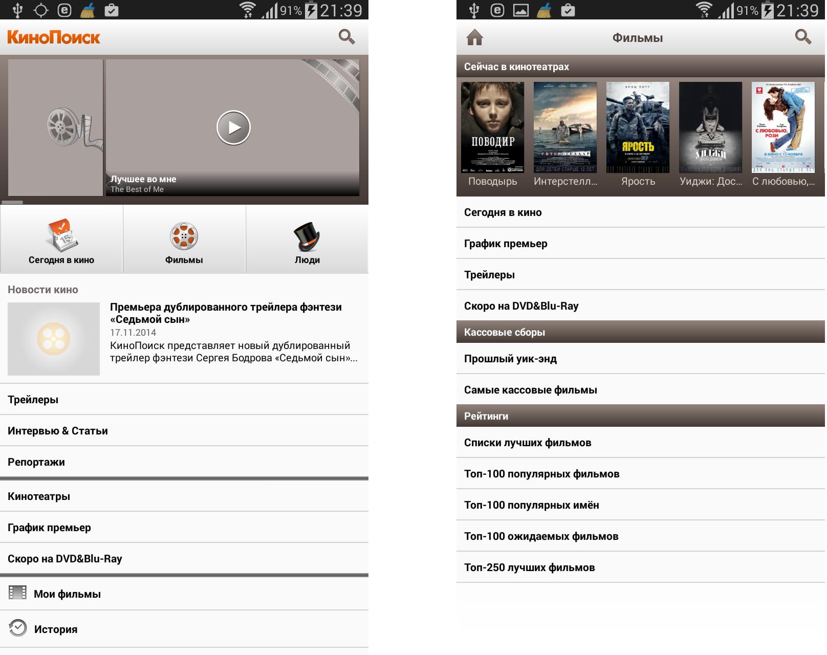ТОП-20 приложений для Android - КиноПоиск