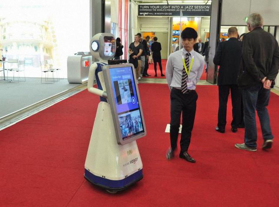 Танцующий робот-для объявлений