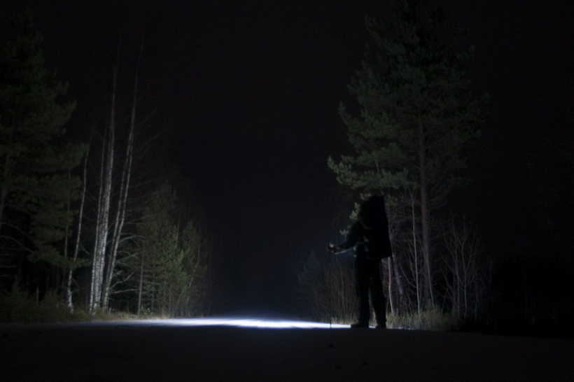 В поход-с фонарем