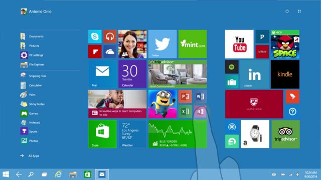 Windows 10-режим Continuum