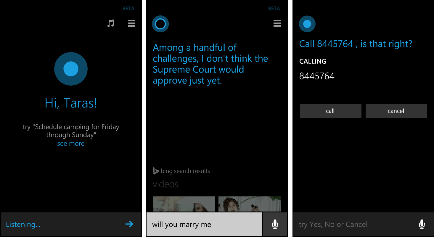 Windows Phone 8.1 - Cortana