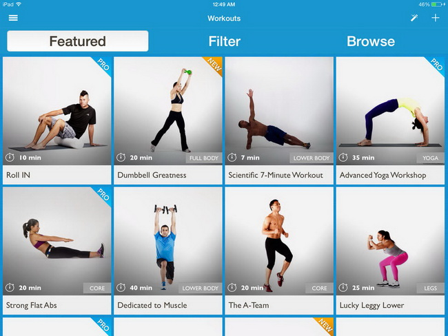 Workout Trainer-функционал
