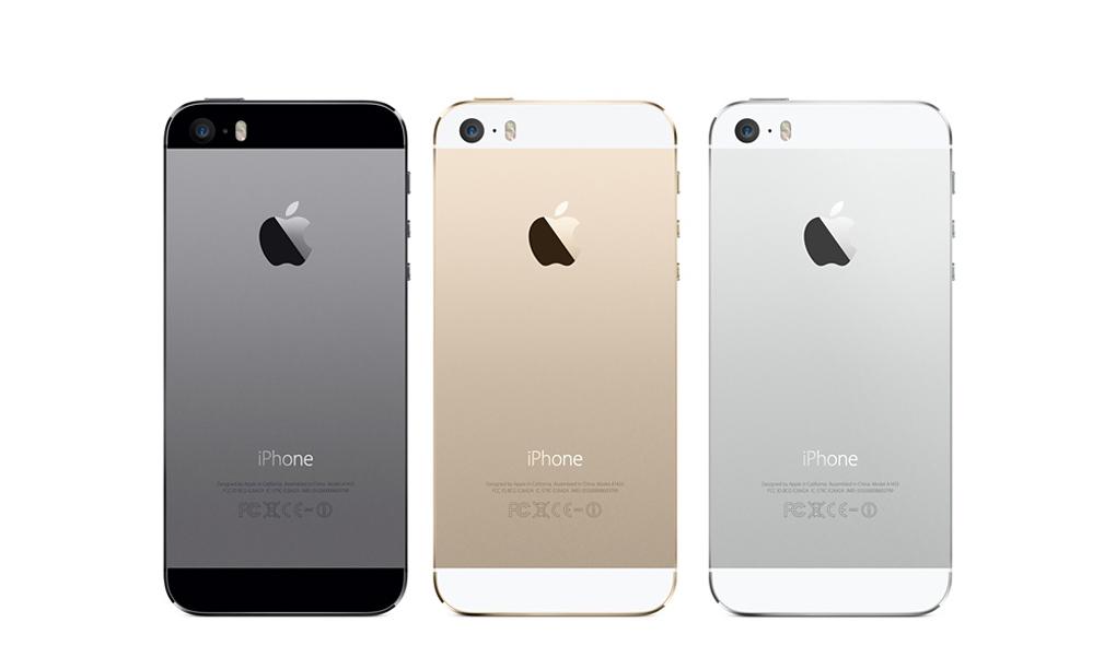 iPhone 5s цветовая гамма