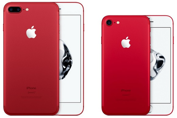 iPhone 7 and iPhone 7 red