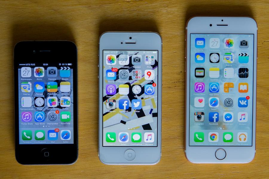 iPhone-эволюция поколений