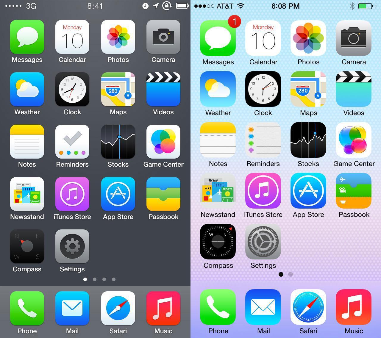 iPhone 5S интерфейс