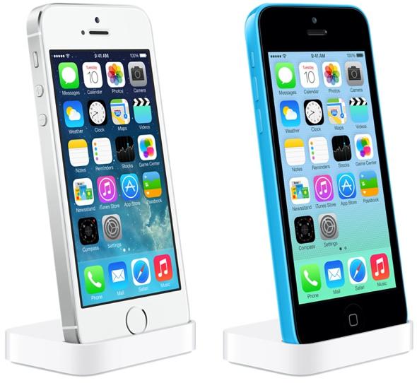 топовая модель - iPhone 5s и пластиковая модель - iPhone 5c